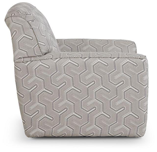 Daylon Light Gray Micro Swivel Accent Chair (2)