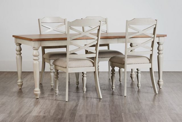 Lexington Two-tone Table & 4 Chairs (0)