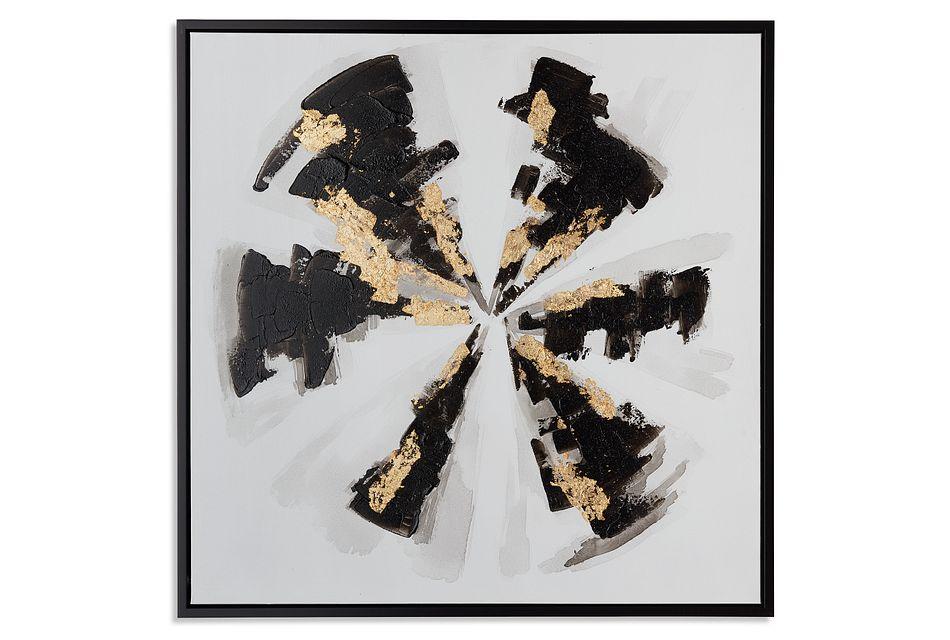 Jago Black Framed Canvas Wall Art