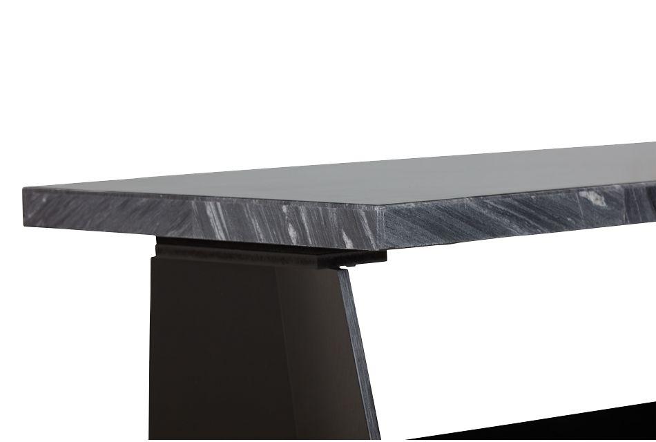 Auburn Dark Gray Marble Rectangular Coffee Table