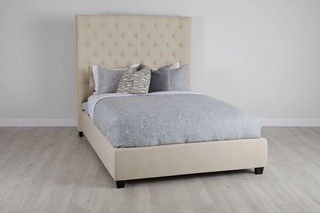 Rylee Beige Uph Platform Bed (0)