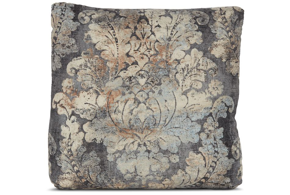 """Firenza Gray 18"""" Square Accent Pillow"""