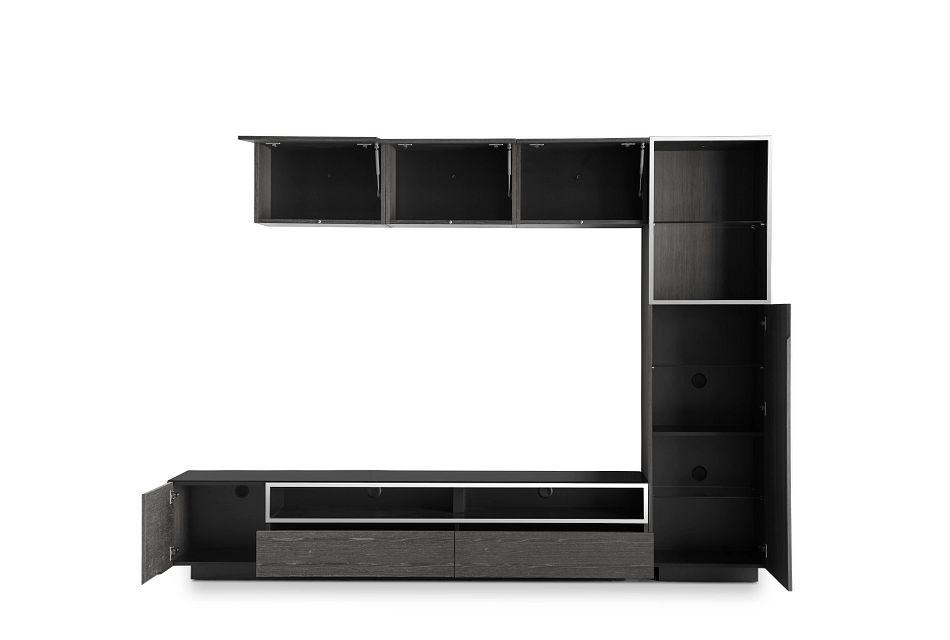 "Vancouver Dark Gray 108"" 5-piece Right Modular Entertainment Wall"
