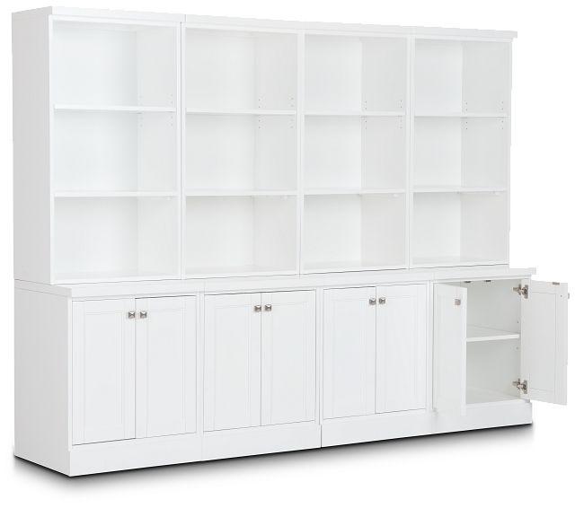 Newport White Door Bookcase Wall