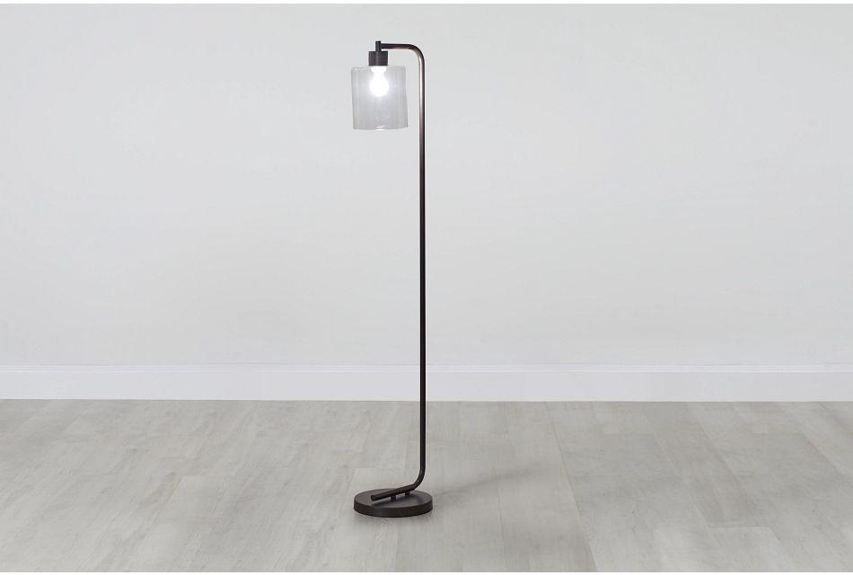 Maxwell Black Metal Floor Lamp