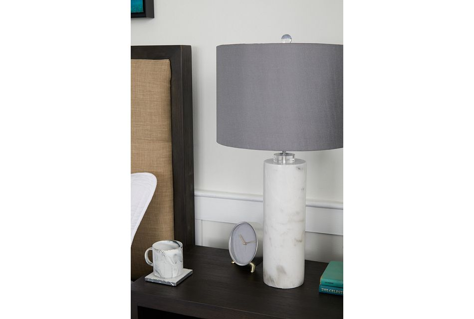 Pippi Gray Marble Table Lamp
