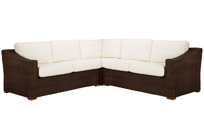 Canyon Dark Brown White Small Two-arm Sectional