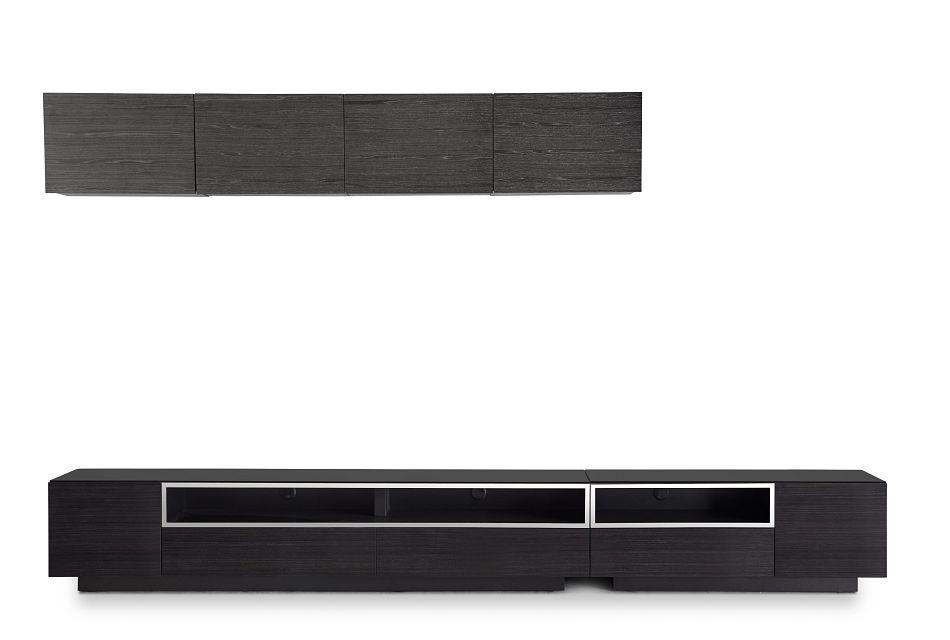 Vancouver Dark Tone Dk Gray 6-piece Left Modular Entertainment Wall