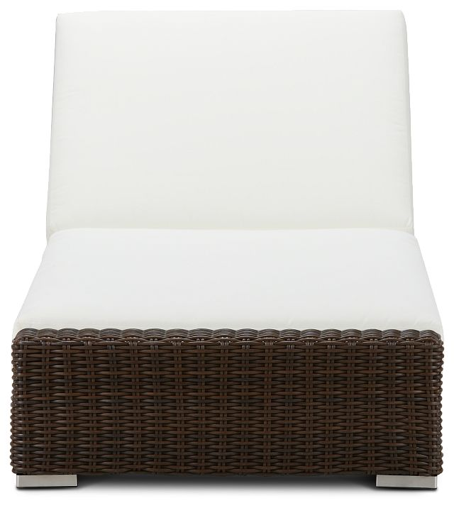 Southport White Woven Cushioned Chaise (2)