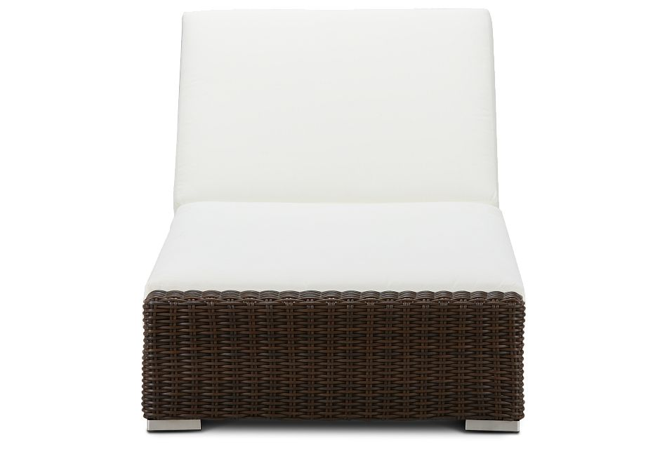 Southport White Woven Cushioned Chaise