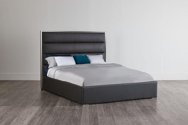 Cortina Gray Uph Platform Bed (2)