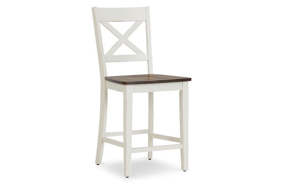 "Sumter White 24"" Wood Barstool,  (1)"