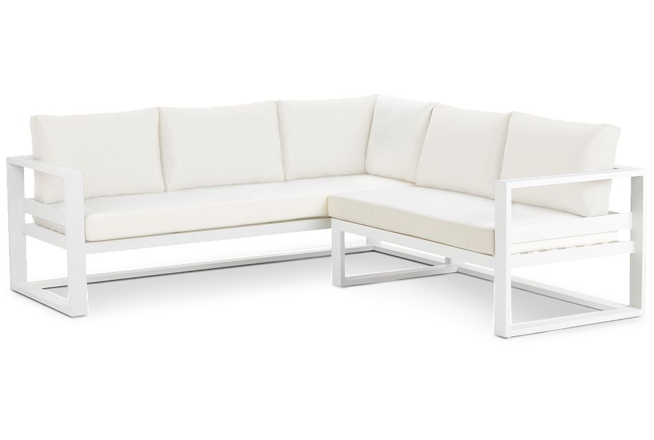 Lisbon White Aluminum Small Right Sectional