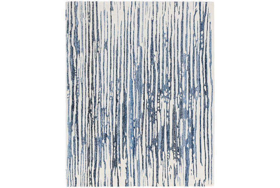 Lykon Blue 5x8 Area Rug