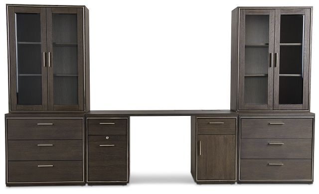 Highline Dark Tone Drawer Wall Desk (1)