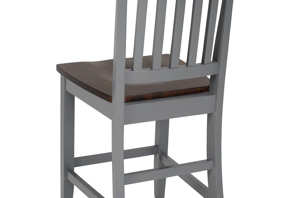Santos Gray Two-tone High Table, 4 Barstools & High Bench
