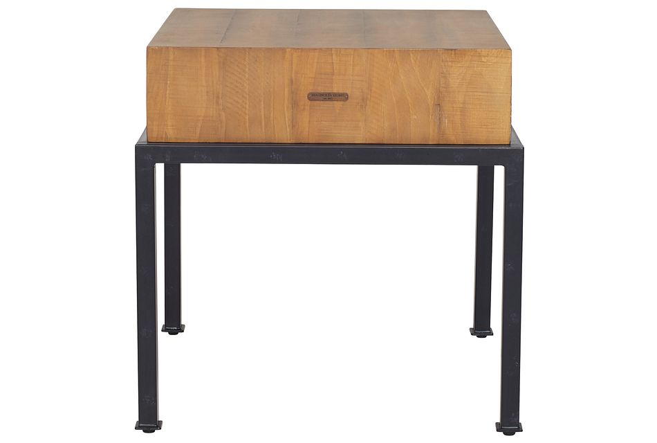 Butcher Light Tone End Table
