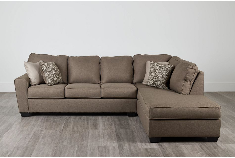 Calicho Dark Taupe Micro Right Chaise Sectional,  (0)