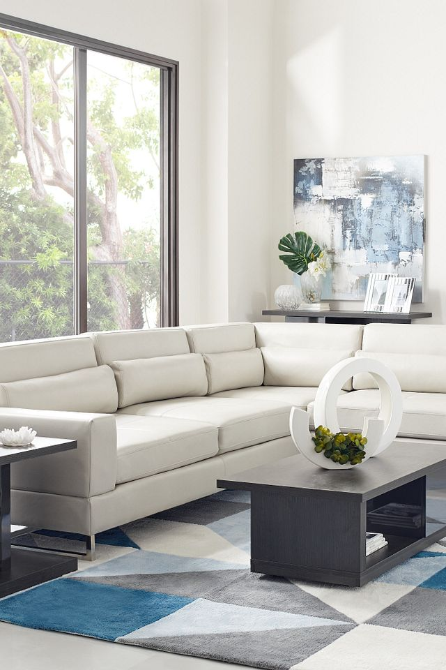 Alec Light Gray Micro Right Chaise Sectional (3)