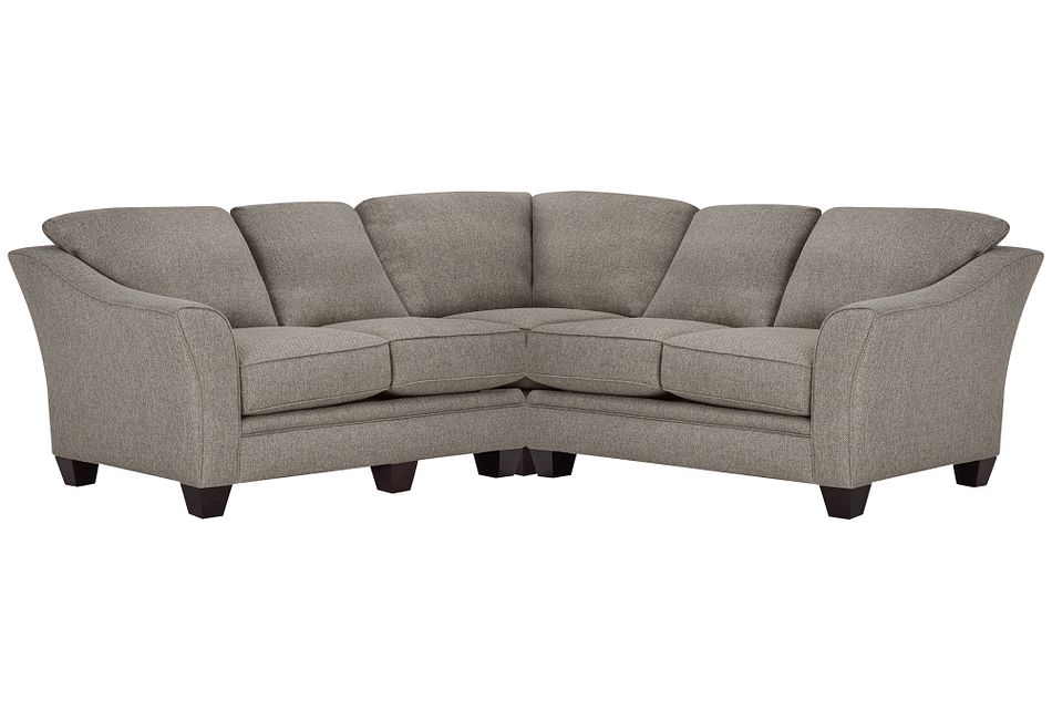 Avery Dark Gray  FABRIC Small Two-Arm Sectional,  (0)