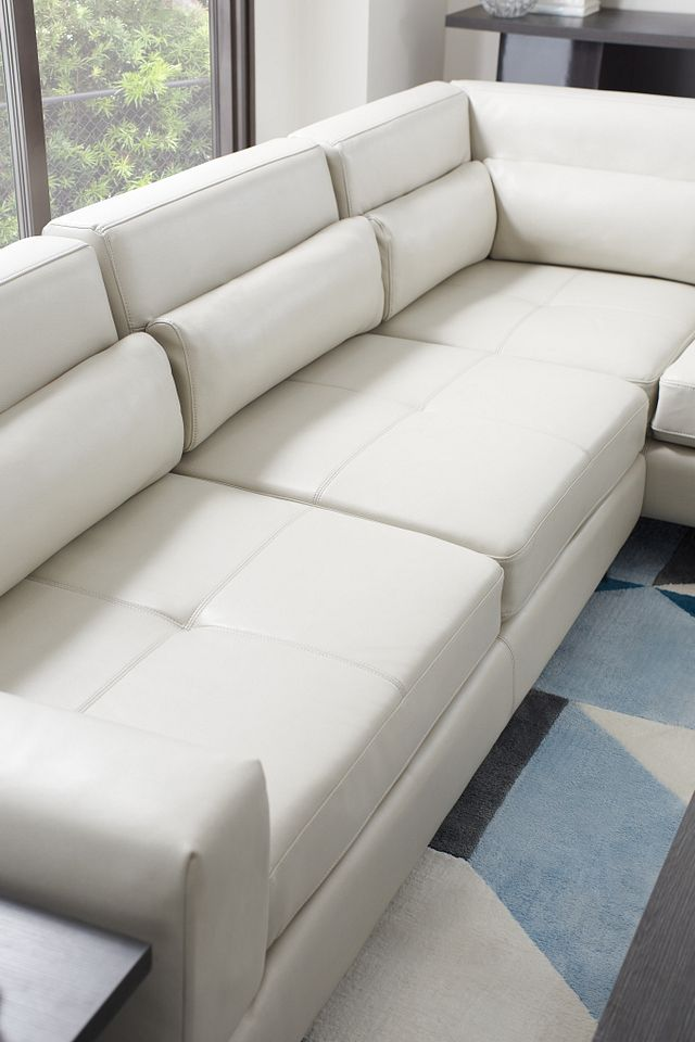 Alec Light Gray Micro Right Chaise Sectional