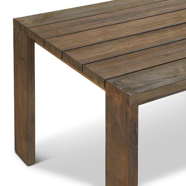 "Linear Teak 82"" Rectangular Table"