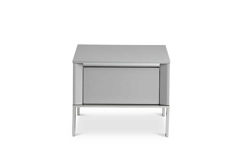 Vancouver Gray Square End Table