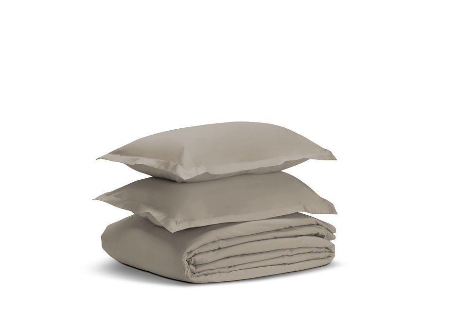 Egyptian Cotton Beige 400 Thread Duvet Set