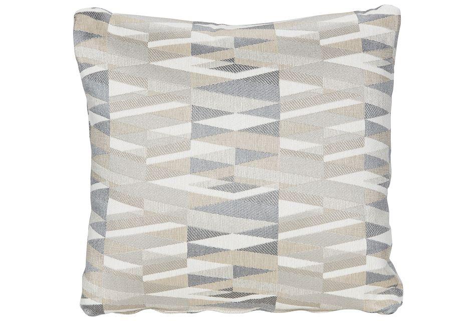 Derailed Light Beige Fabric Accent Pillow