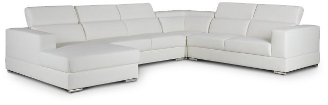 Maxwell White Micro Large Left Chaise Sectional (2)