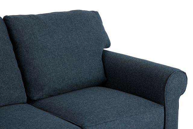 Cameron Blue Fabric Loveseat