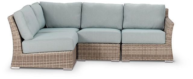 Raleigh Teal Right 4-piece Modular Sectional (0)