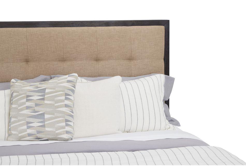 Madden Dark Tone Wood Platform Bed