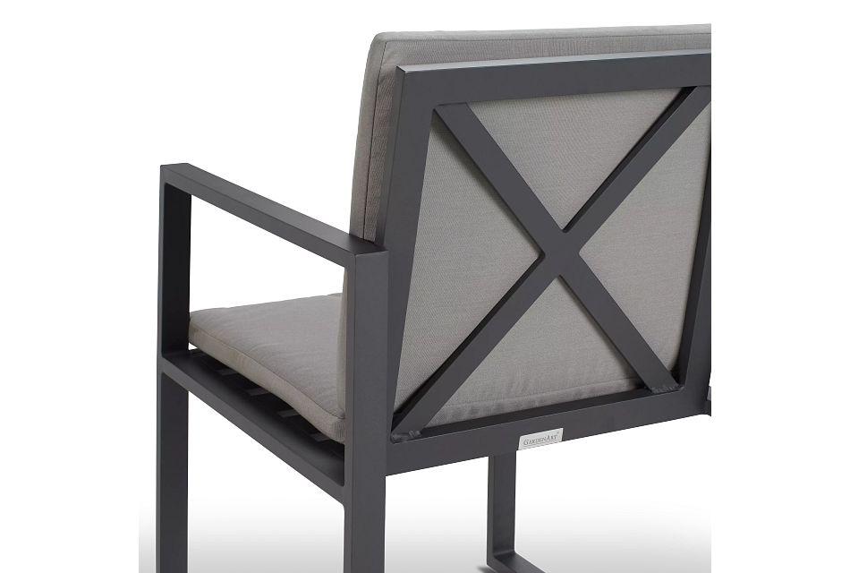 Linear Dark Gray Arm Chair