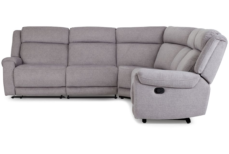 Beckett Gray Micro Small Two-arm Manually Reclining Sectional