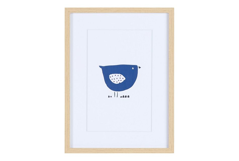 Finch Dark Blue Framed Wall Art