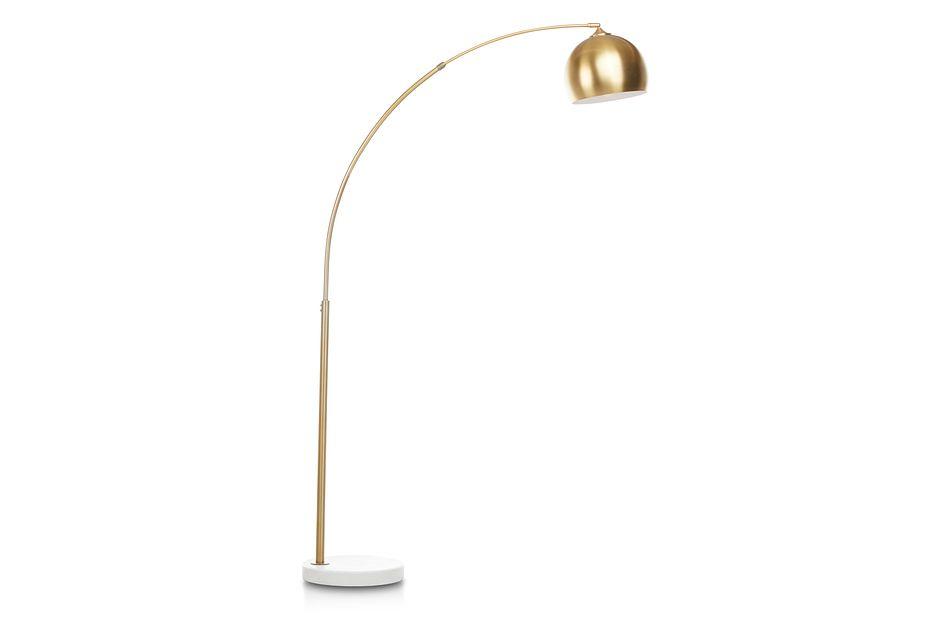 Imanni Gold Arc Floor Lamp