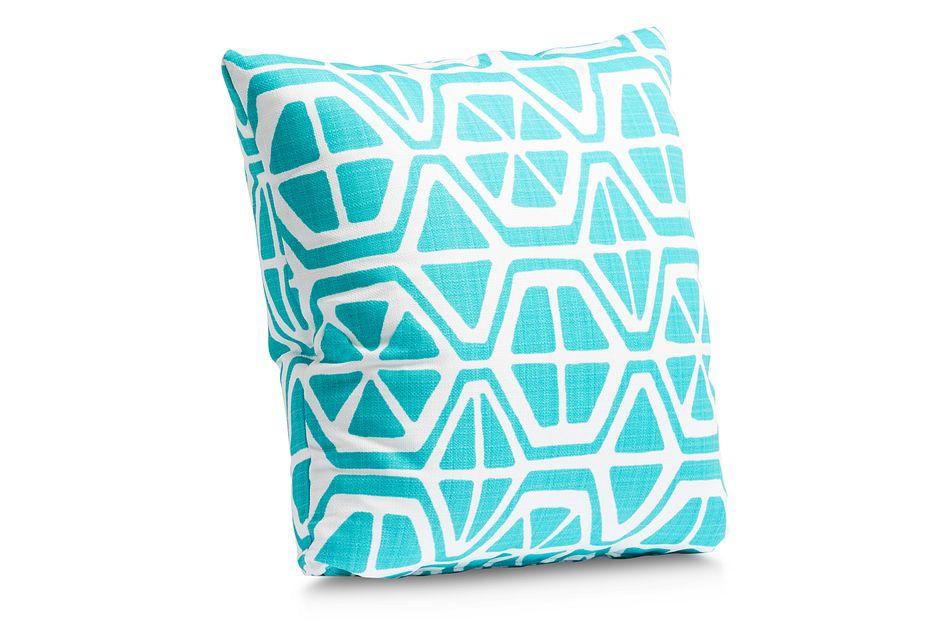 """Aiden Aqua 18"""" Indoor/outdoor Accent Pillow"""