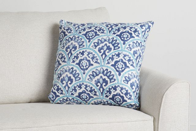 """Tomini Blue Fabric 18"""" Accent Pillow (0)"""