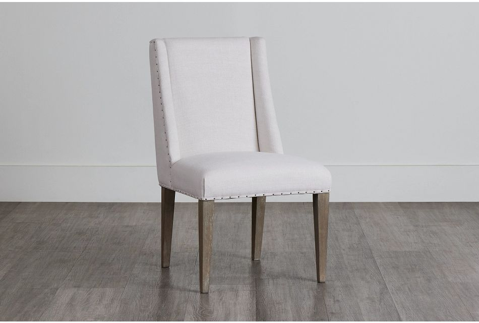 Berlin White Upholstered Arm Chair,  (0)