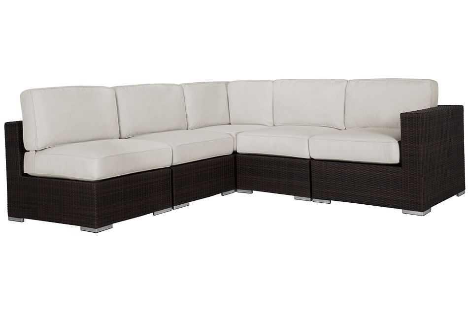 Fina White 5-piece Modular Sectional