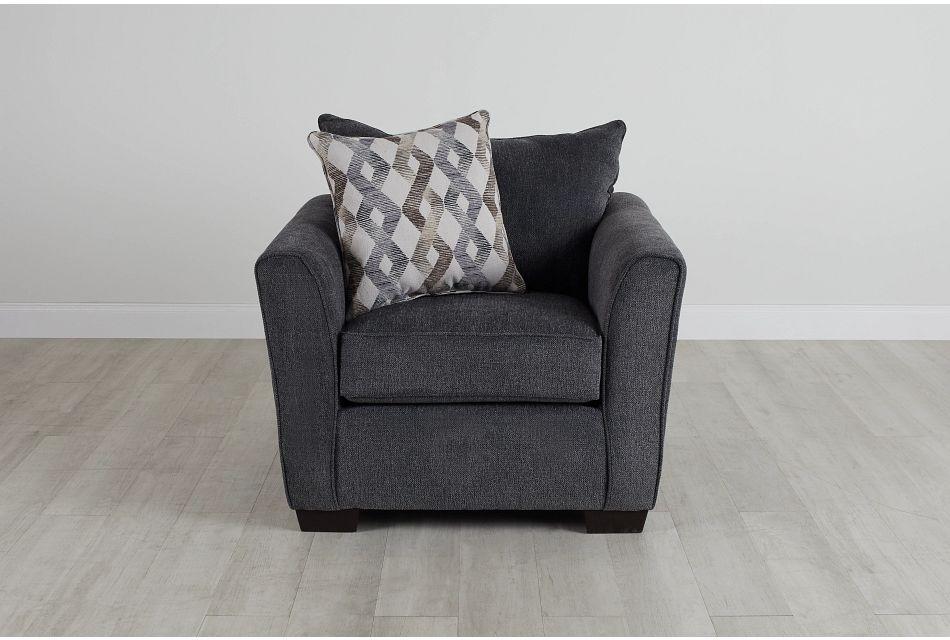 Myra Dark Gray Fabric Chair,  (0)