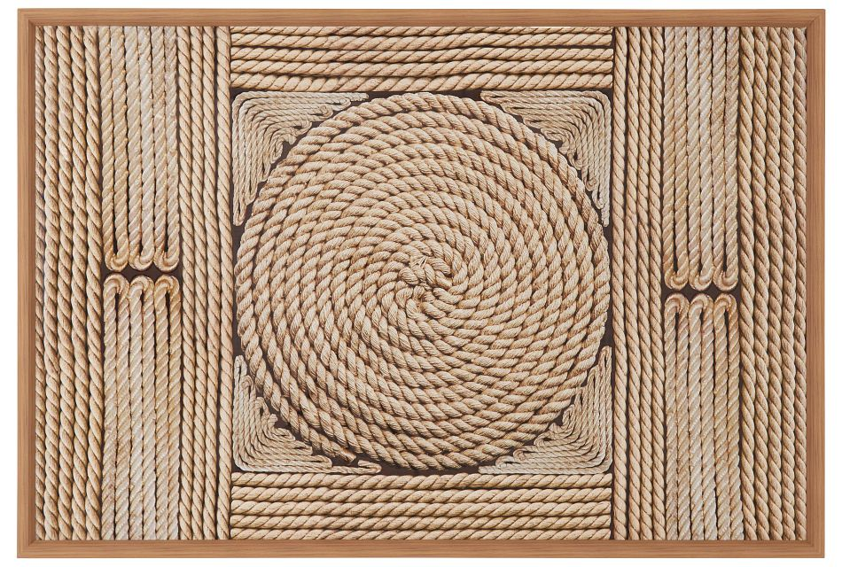 Ropes Beige Framed Wall Art