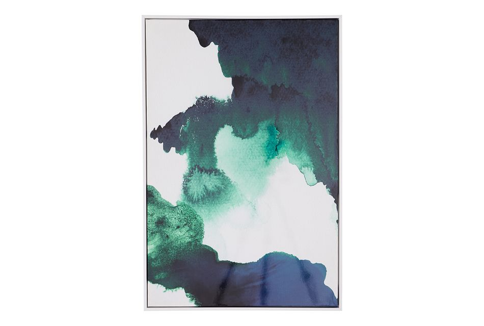 Watercolor White Canvas Wall Art