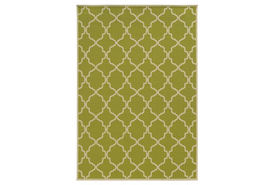 Rivy Green Indoor/outdoor 8x10 Area Rug