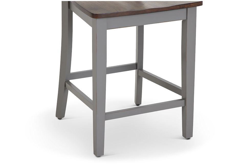 "Sumter Gray 24"" Wood Barstool"