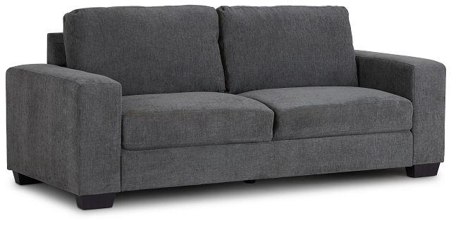 Estelle Dark Gray Fabric Sofa (2)