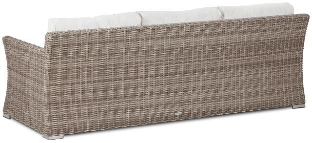 Raleigh White Woven Sofa (3)