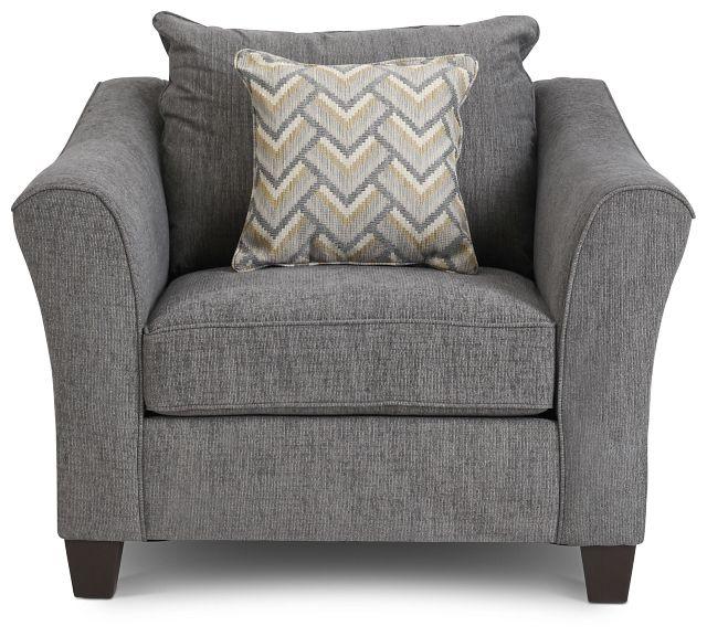 Maggie Dark Gray Fabric Chair (3)