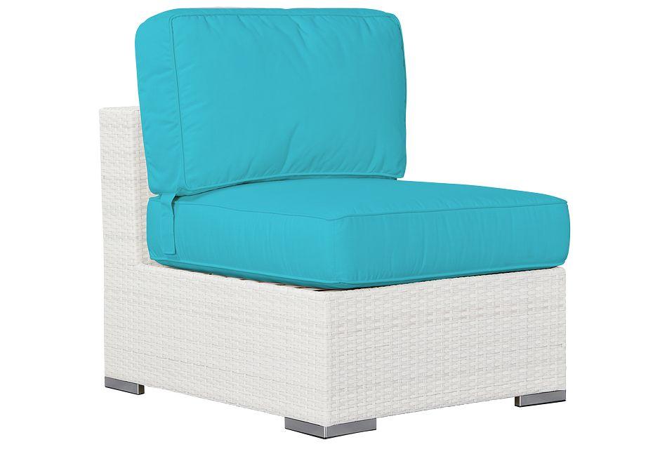 Biscayne Dark Teal   Armless Chair,  (0)